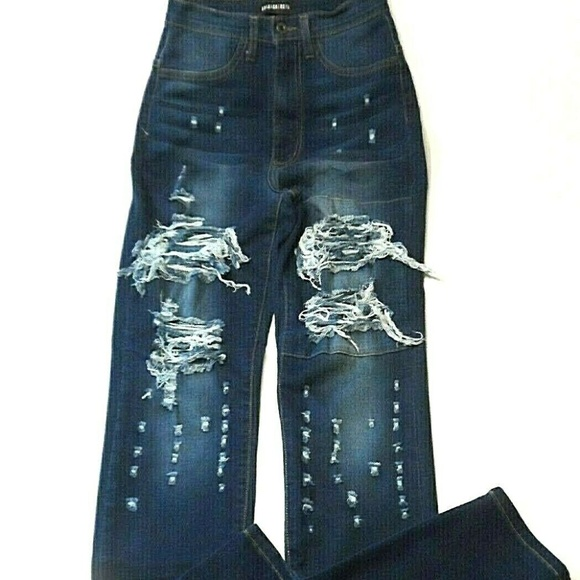 Fashion Nova Denim - Fashion Nova Jeans Size 13 Aphrodite Destroyed